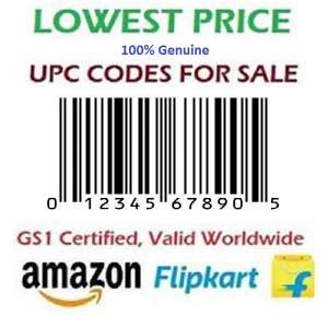 25 UPC EAN Certified Bar-Code for Amazon India, Ebay, Flipkart, Amazon USA, 100% Genuine
