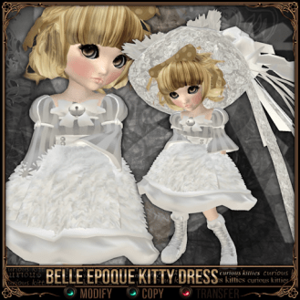 Curious Kitties - Belle Epoque Kitty Dress