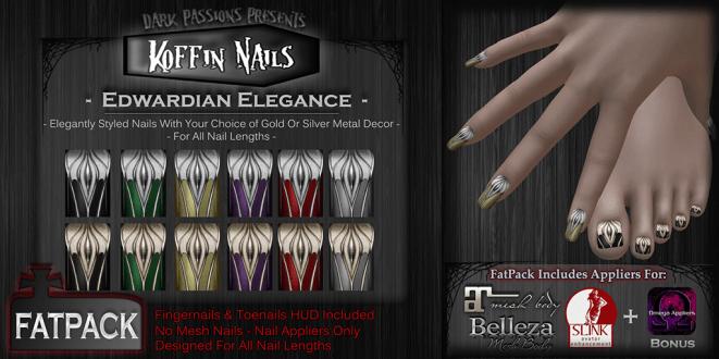 Dark Passions - Koffin Nails - Edwardian Elegance