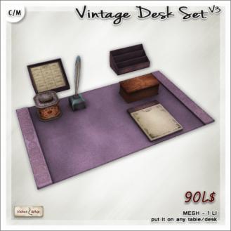 AD Vintage Desk Set V3