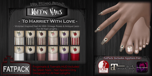 Dark Passions - Koffin Nails - Fatpack - To Harriet With Love