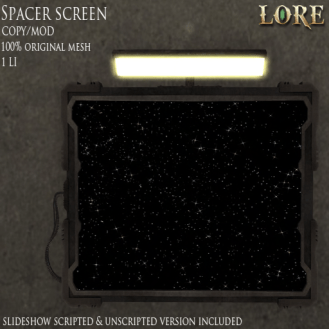 {LORE} Spacer Screen Ad