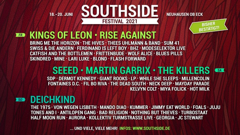 Southside 2021 Lineup