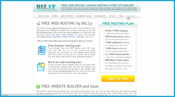 Free Domain & Web Hosting Providers