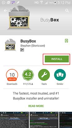INtall BusyBox to Spy On Whatsapp Messages