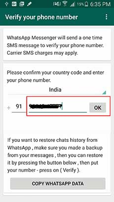 Provide 2 Whatsapp Number