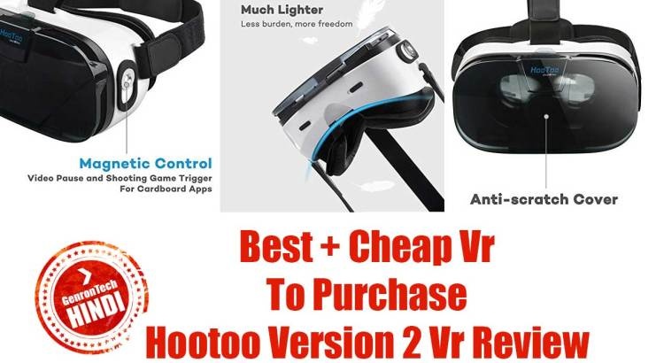 Hindi HooToo HT-VR002® VR Glasses Virtual Reality Headset Unboxing & Review GenronTech