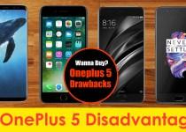 oneplus 5 drawbacks