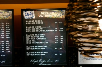 A Blugre Menu Board