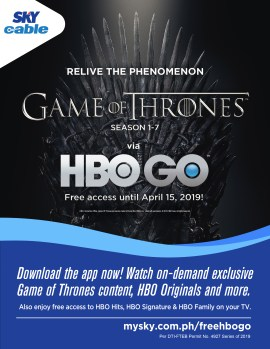 HBO GO FREE ACCESS TO GAME OF THRONES UNTIL APRIL 15