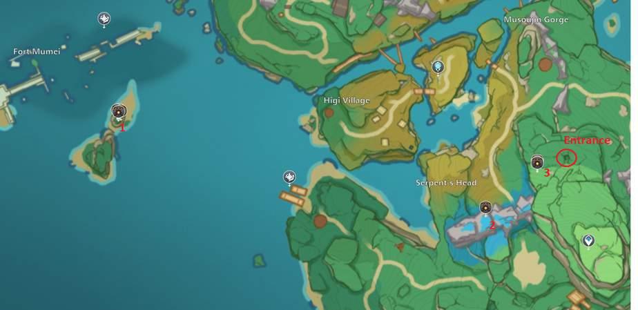 This puzzle can be found on yashiori island, near higi village. Ruin Sentinel Locations In Genshin Impact Genshin Db
