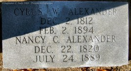 Cyrus W. and Nancy C. Alexander - Mt Mitchell UMC