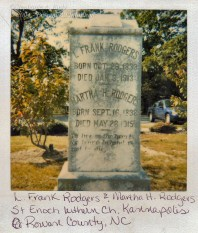 L. Frank Rodgers and Martha H. Rodgers
