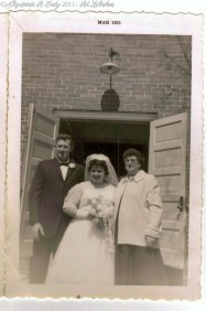 Red, Louise and Hessie (Red and Louise married 26 March 1961)