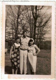 Red, Louise and Ruby Coltrain, taken 08 February 1953