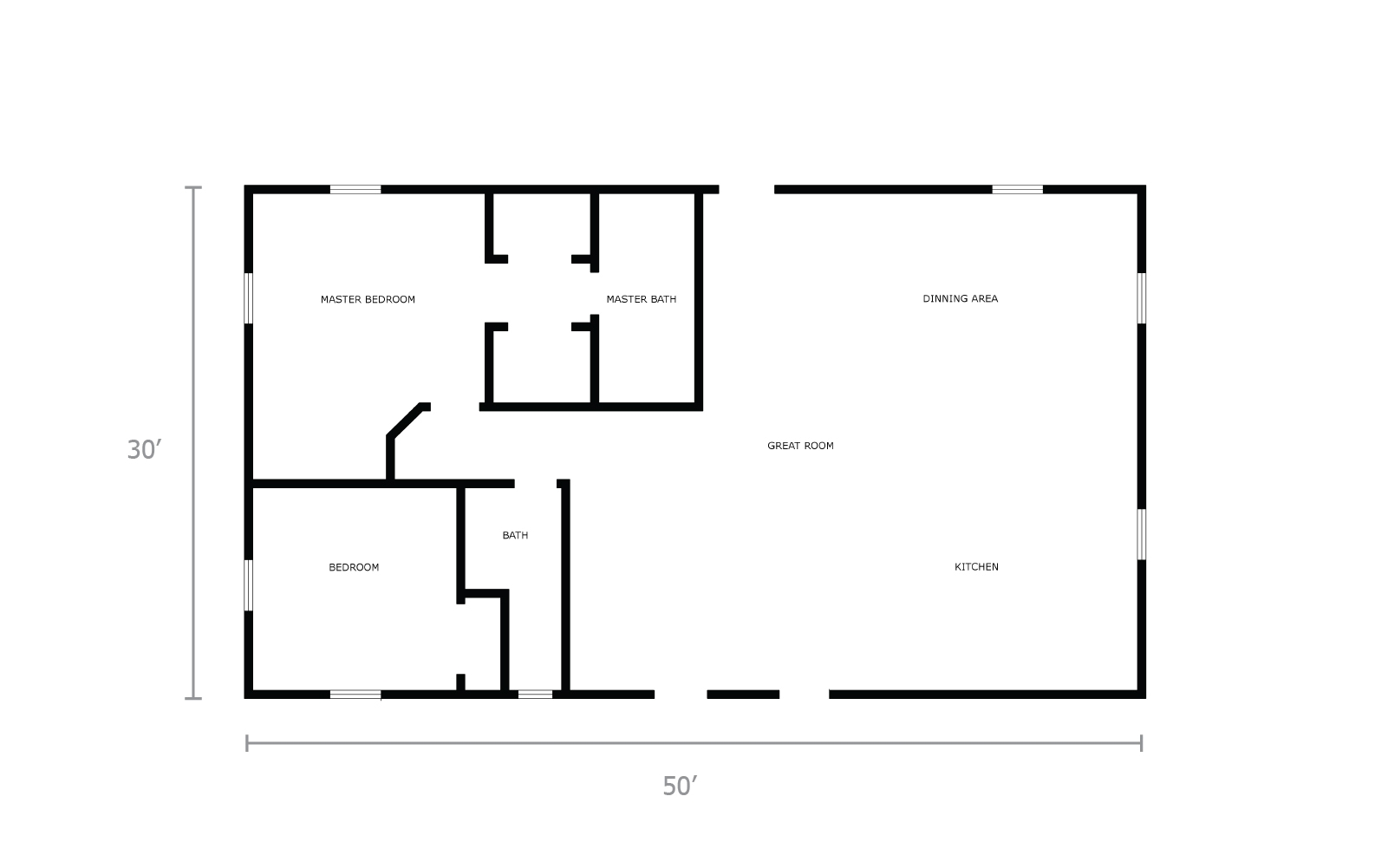 hight resolution of cost to build a 30x50 home