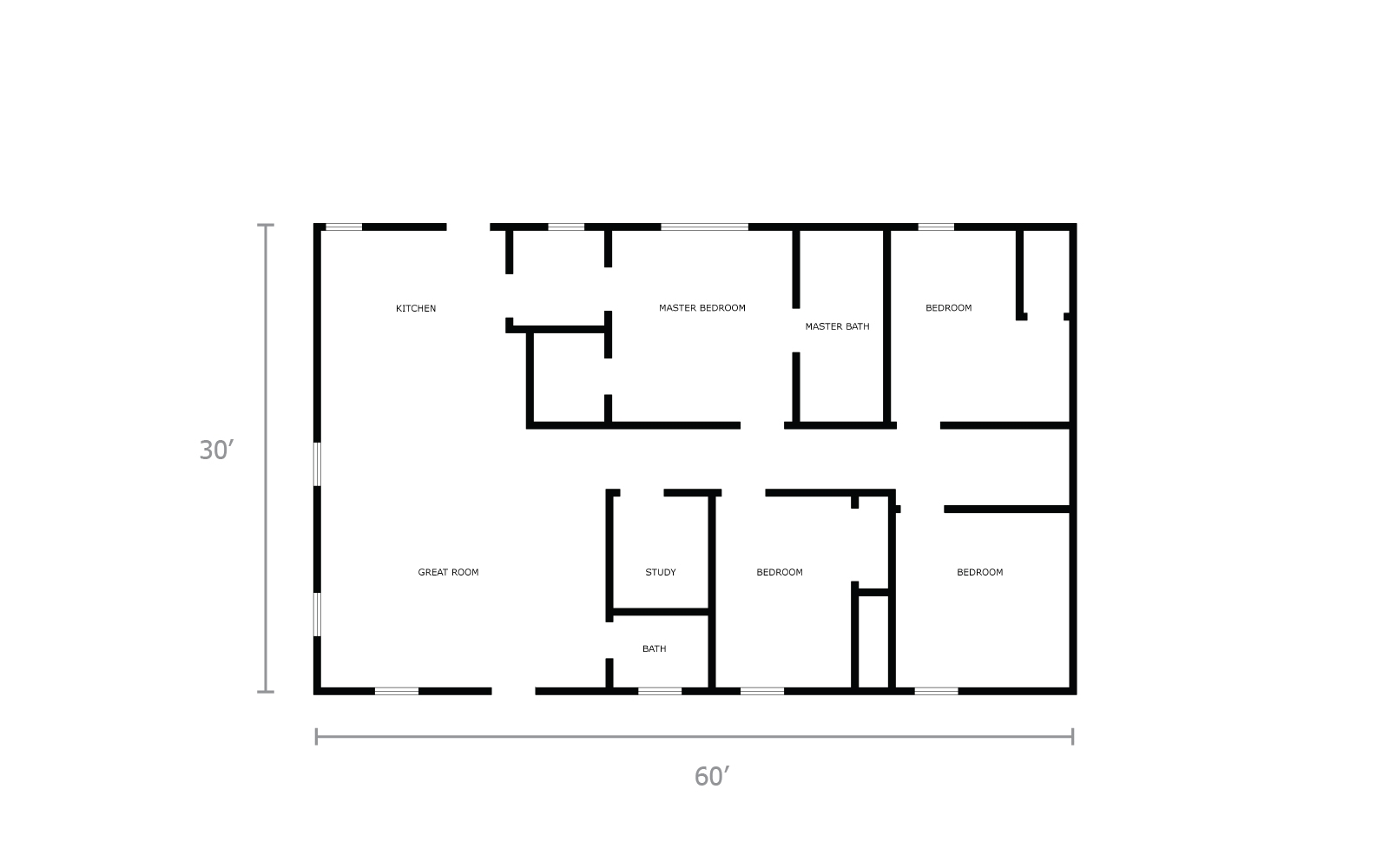 hight resolution of cost to build a 30x60 home