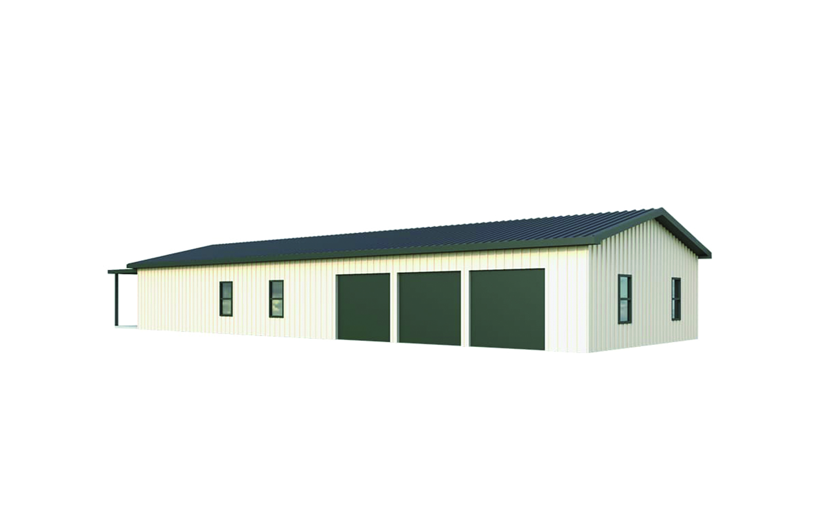30x80 Shop and Living Quarters The Buell  General Steel Shop