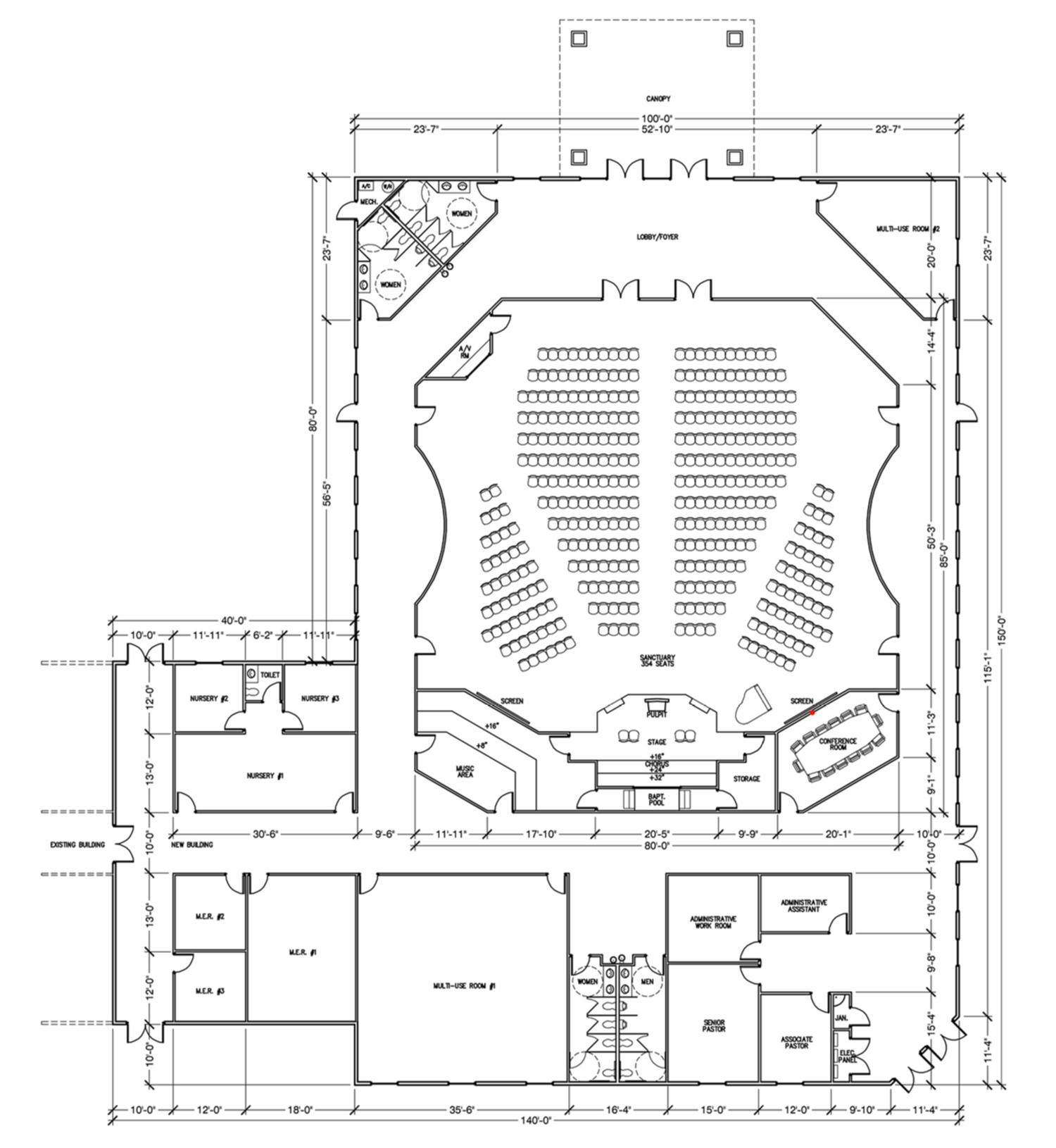 Easy Line Plan Of School Easy Building