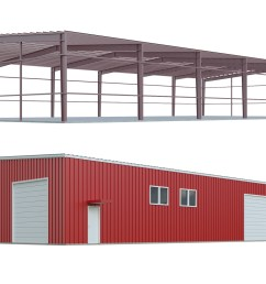 metal building kits red iron building kit frame and components [ 1600 x 1000 Pixel ]