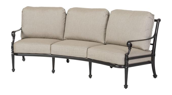 grand terrace cushion curved sofa gensun