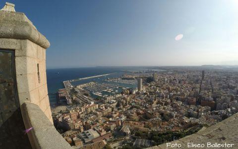 Atardecer-castillo-santa-barbara-Alicante