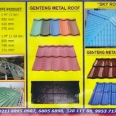 Baja Ringan Murah Bogor Genteng Metal Sky Roof Lapis Pasir Berpasir ...