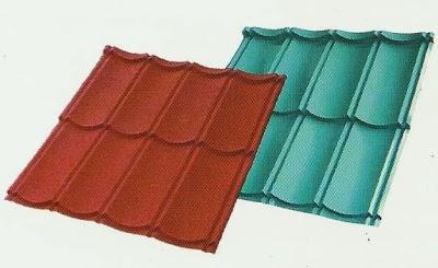 harga atap baja ringan lapis pasir jual produk genteng metal minimalis berpasir