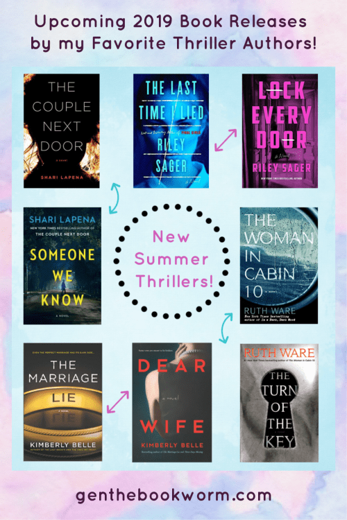 2019 Thriller Books, Summer Reading