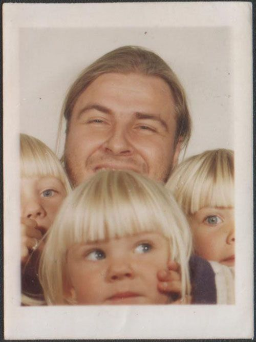 A photograph from a photo booth session with my girls.