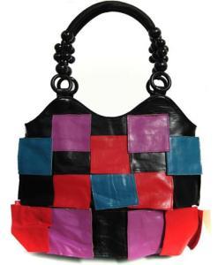 Geanta dama Silvia-geanta patrate multicolore-geanta mana