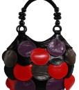 Geanta dama Aurora-geanta cercuri multicolore-geanta mana
