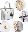 Geanta dama Melisa – argintie – geanta tote