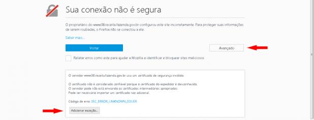 Conexão não é Segura Firefox