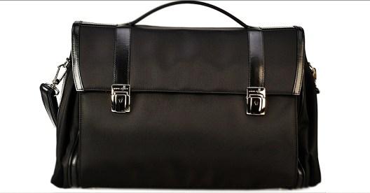 servieta sport eleganta, piele si duratex, geanta neagra pt laptop, 45x28x17cm