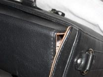 geanta neagra din piele naturala , servieta business, genti office