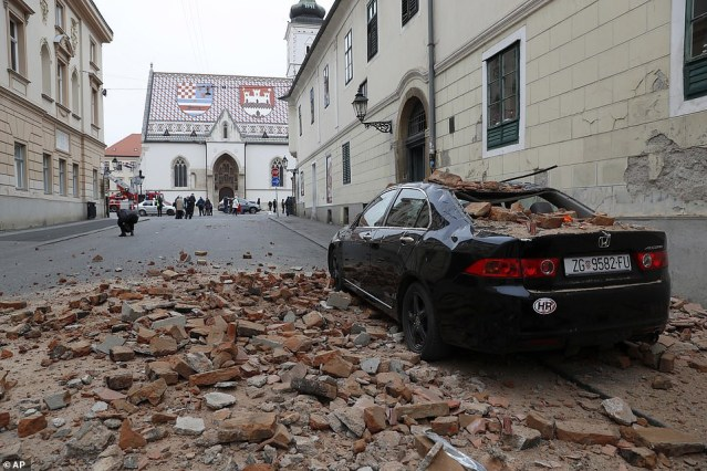 Magnitude 5.4 :  Earthquake Rocks Croatia's Capital Zagreb