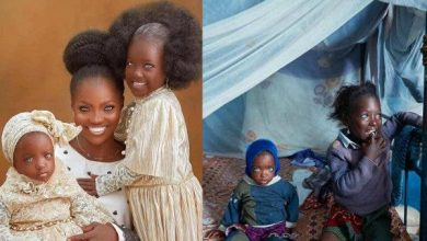 Kwara Mother And Daughters Who Went Viral Recently Because Of Their Blue Eyes