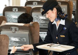 JR新幹線グリーン車のおしぼりサービス