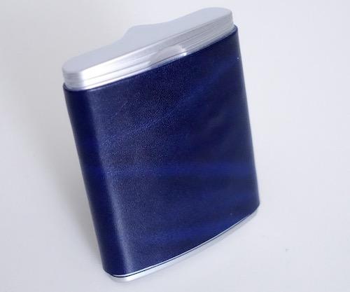 ウインドミルの携帯灰皿、ハニカム3(自作の革巻き品)