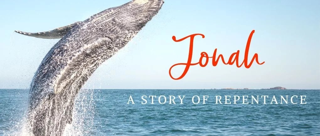 image of a whale and Jonah - what does it mean to repent