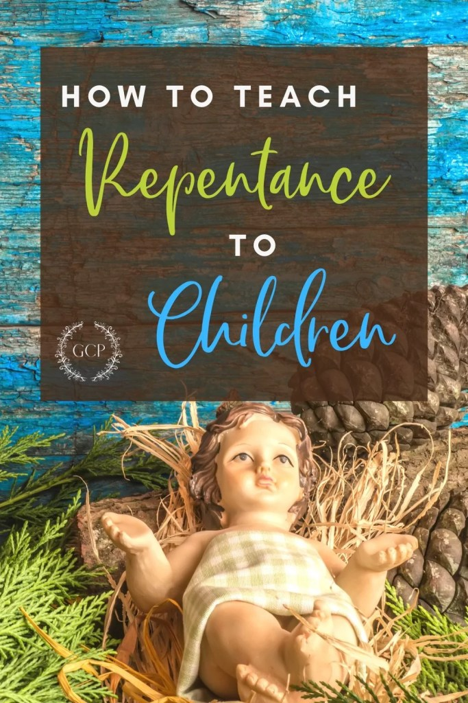 Pinterest image of the true meaning of repentance