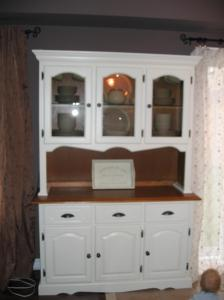 teak kitchen chairs top sink kelly clarke, painted/refinished hutch, bowmanville ...