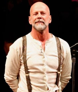 "SAN FRANCISCO - OCTOBER 27: Actot Bruce Willis onstage during the reading of ""The World Of Nick Adams"" to honor Paul Newman held at Davies Symphony Hall on October 27, 2008 in San Francisco, California. The performance is a benefit for Paul Newman's Hole In The Wall California Camp, The Painted Turtle; a recreational camp and family health care center for children suffering from life-threatening diseases. (Photo by Kevin Winter/Getty Images)"