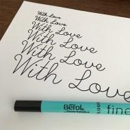Single Line Font - Pen Test 4