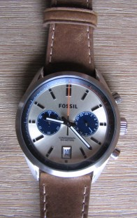 montre del rey chronographie cuir fossil