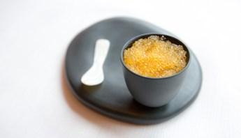 Le Caviar de Féra et polenta soyeuse