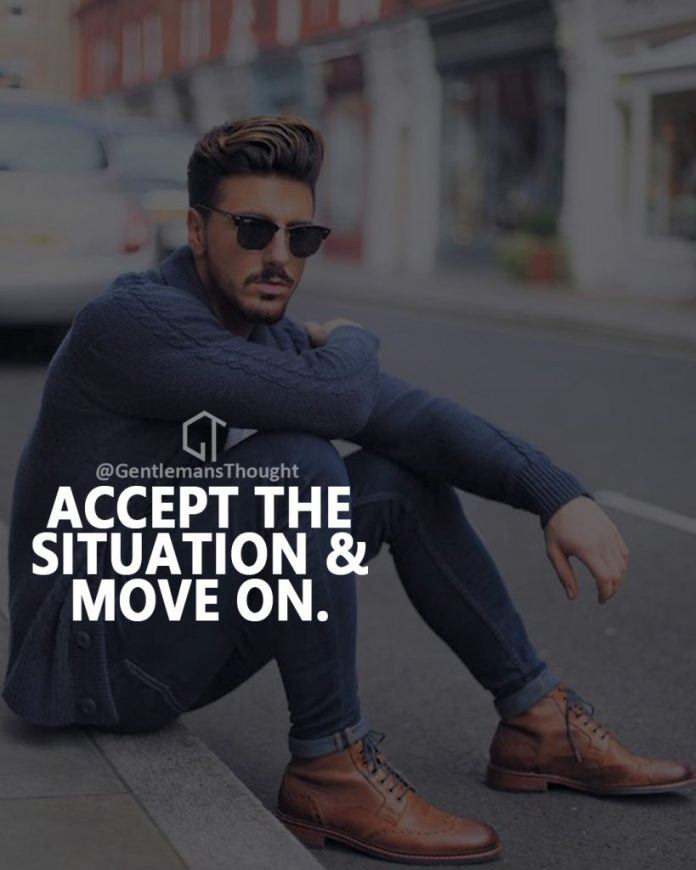 Accept the situation and move on.