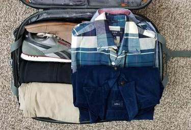 Packing a carry-on suitcase