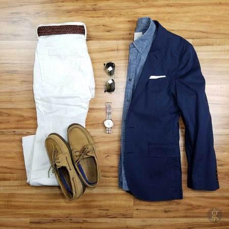How To Wear A Navy Blue Blazer In The Summer | GENTLEMAN WITHIN